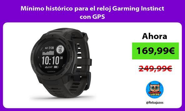 Mínimo histórico para el reloj Garming Instinct con GPS