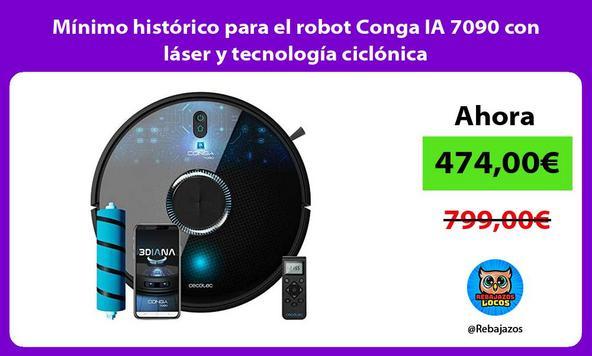 Mínimo histórico para el robot Conga IA 7090 con láser y tecnología ciclónica