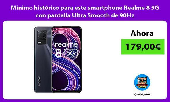 Mínimo histórico para este smartphone Realme 8 5G con pantalla Ultra Smooth de 90Hz
