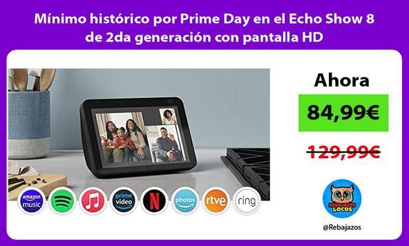 Mínimo histórico por Prime Day en el Echo Show 8 de 2da generación con pantalla HD