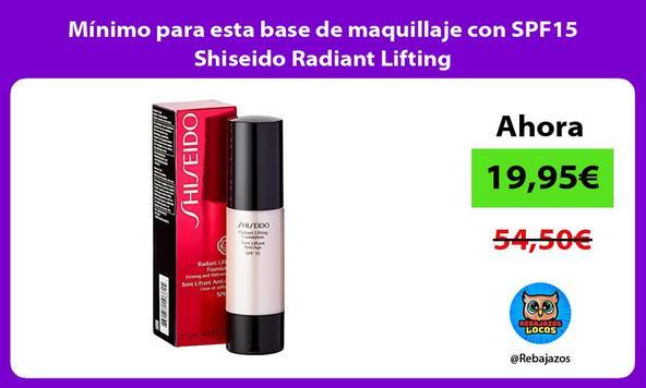 Mínimo para esta base de maquillaje con SPF15 Shiseido Radiant Lifting