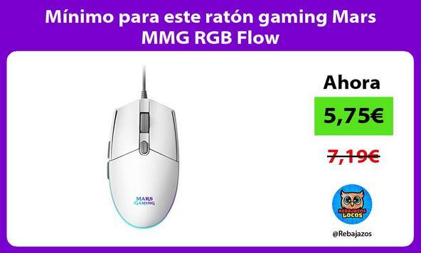 Mínimo para este ratón gaming Mars MMG RGB Flow