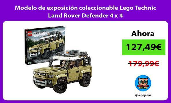 Modelo de exposición coleccionable Lego Technic Land Rover Defender 4 x 4