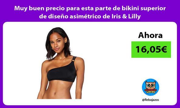 Muy buen precio para esta parte de bikini superior de diseño asimétrico de Iris & Lilly