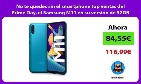 No te quedes sin el smartphone top ventas del Prime Day, el Samsung M11 en su versión de 32GB