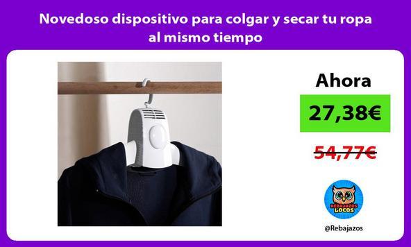 Novedoso dispositivo para colgar y secar tu ropa al mismo tiempo