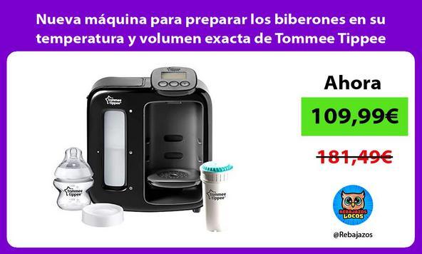 Nueva máquina para preparar los biberones en su temperatura y volumen exacta de Tommee Tippee