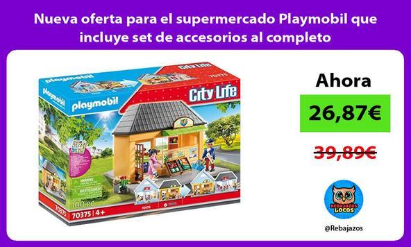 Nueva oferta para el supermercado Playmobil que incluye set de accesorios al completo