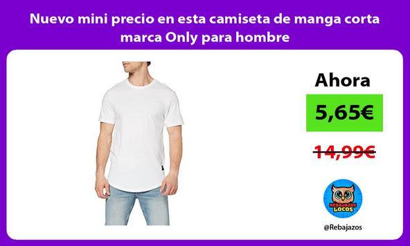 Nuevo mini precio en esta camiseta de manga corta marca Only para hombre