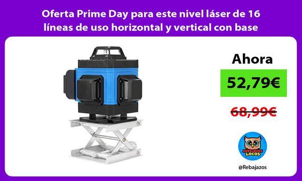 Oferta Prime Day para este nivel láser de 16 líneas de uso horizontal y vertical con base giratoria