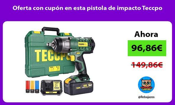 Oferta con cupón en esta pistola de impacto Teccpo