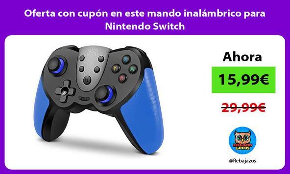 Oferta con cupón en este mando inalámbrico para Nintendo Switch