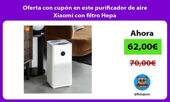 Oferta con cupón en este purificador de aire Xiaomi con filtro Hepa