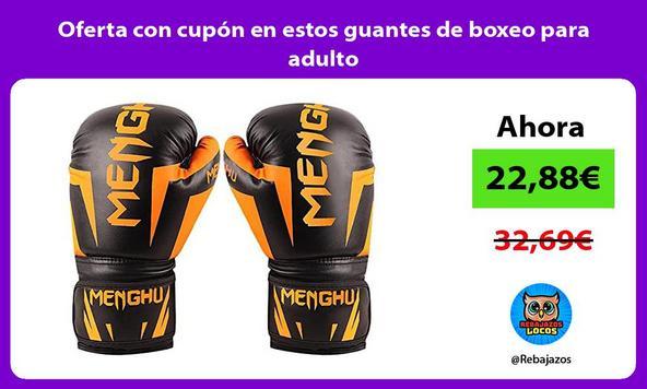 Oferta con cupón en estos guantes de boxeo para adulto