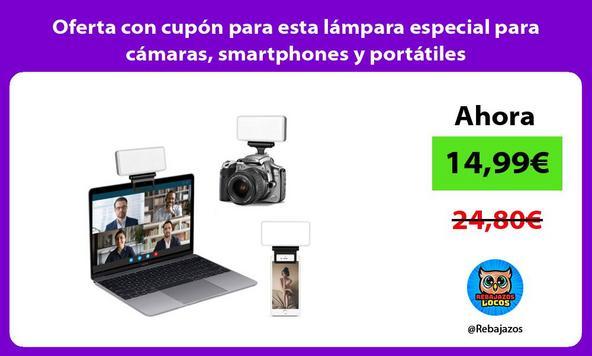 Oferta con cupón para esta lámpara especial para cámaras, smartphones y portátiles