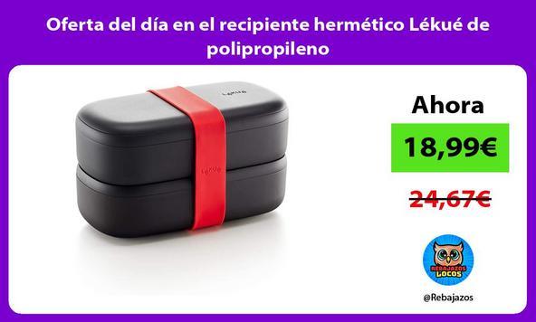 Oferta del día en el recipiente hermético Lékué de polipropileno
