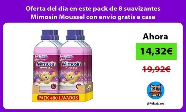 Oferta del día en este pack de 8 suavizantes Mimosin Moussel con envío gratis a casa