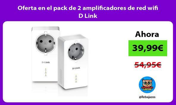 Oferta en el pack de 2 amplificadores de red wifi D Link