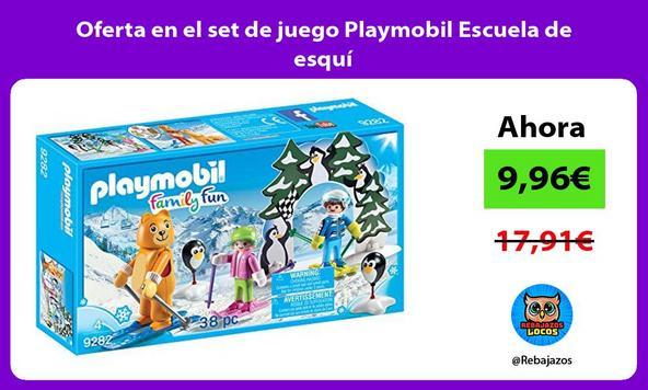 Oferta en el set de juego Playmobil Escuela de esquí