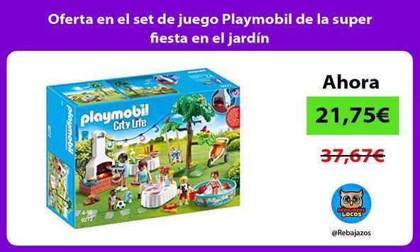 Oferta en el set de juego Playmobil de la super fiesta en el jardín