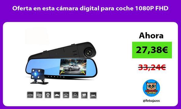 Oferta en esta cámara digital para coche 1080P FHD