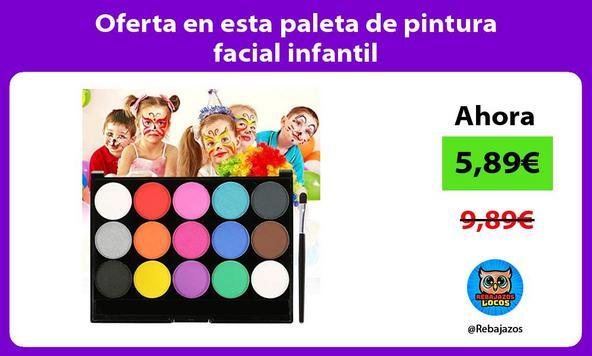 Oferta en esta paleta de pintura facial infantil