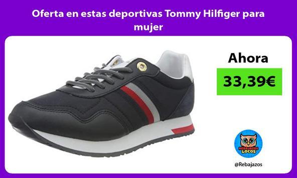 Oferta en estas deportivas Tommy Hilfiger para mujer