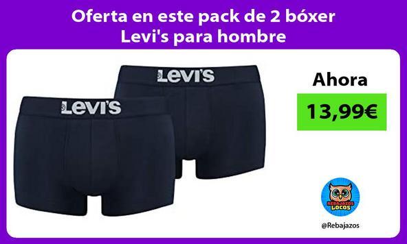 Oferta en este pack de 2 bóxer Levi's para hombre