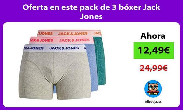 Oferta en este pack de 3 bóxer Jack Jones