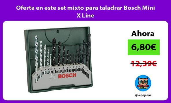 Oferta en este set mixto para taladrar Bosch Mini X Line