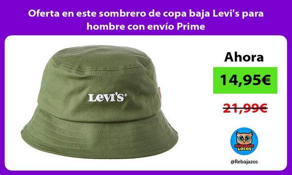 Oferta en este sombrero de copa baja Levi's para hombre con envío Prime