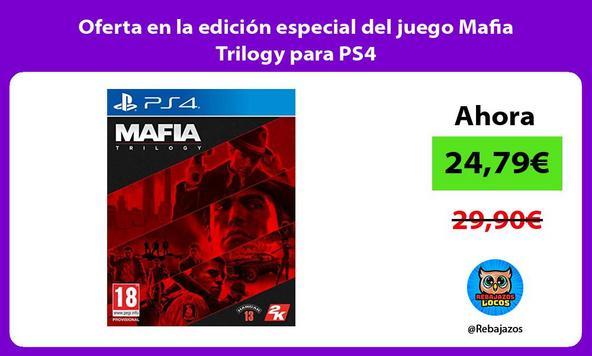Oferta en la edición especial del juego Mafia Trilogy para PS4