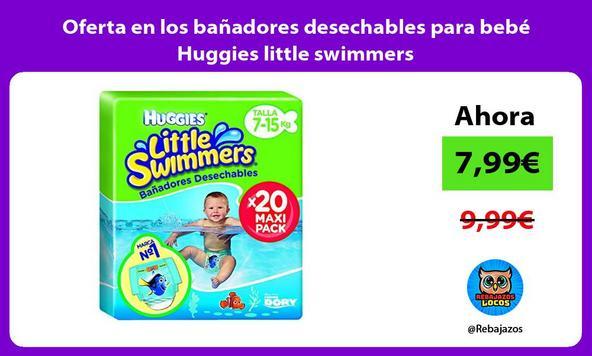 Oferta en los bañadores desechables para bebé Huggies little swimmers