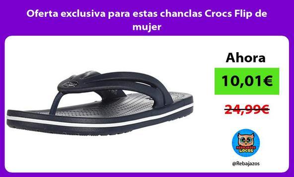 Oferta exclusiva para estas chanclas Crocs Flip de mujer