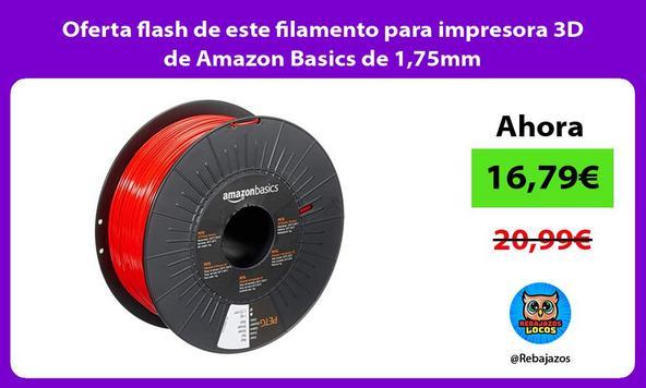 Oferta flash de este filamento para impresora 3D de Amazon Basics de 1,75mm