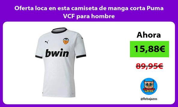 Oferta loca en esta camiseta de manga corta Puma VCF para hombre