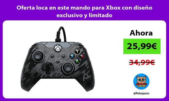 Oferta loca en este mando para Xbox con diseño exclusivo y limitado