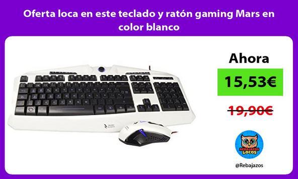 Oferta loca en este teclado y ratón gaming Mars en color blanco