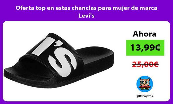 Oferta top en estas chanclas para mujer de marca Levi's