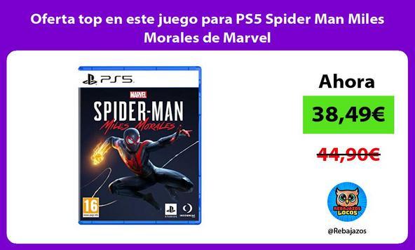 Oferta top en este juego para PS5 Spider Man Miles Morales de Marvel