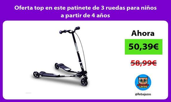 Oferta top en este patinete de 3 ruedas para niños a partir de 4 años