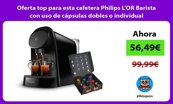 Oferta top para esta cafetera Philips L'OR Barista con uso de cápsulas dobles o individual