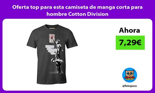 Oferta top para esta camiseta de manga corta para hombre Cotton Division