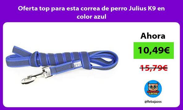 Oferta top para esta correa de perro Julius K9 en color azul