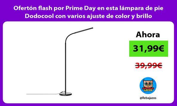 Ofertón flash por Prime Day en esta lámpara de pie Dodocool con varios ajuste de color y brillo