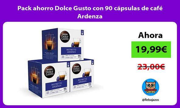 Pack ahorro Dolce Gusto con 90 cápsulas de café Ardenza