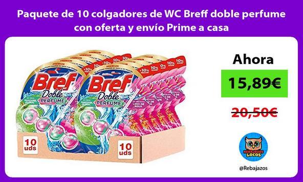 Paquete de 10 colgadores de WC Breff doble perfume con oferta y envío Prime a casa