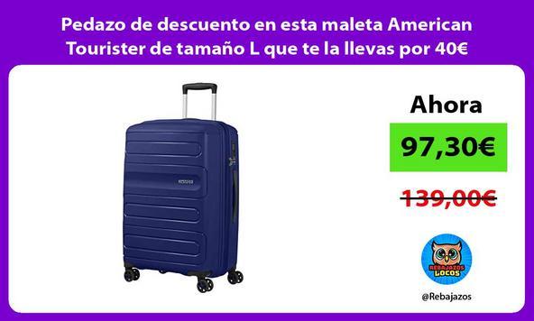 Pedazo de descuento en esta maleta American Tourister de tamaño L que te la llevas por 40€ menos