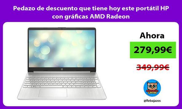 Pedazo de descuento que tiene hoy este portátil HP con gráficas AMD Radeon