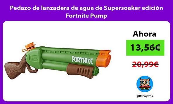 Pedazo de lanzadera de agua de Supersoaker edición Fortnite Pump